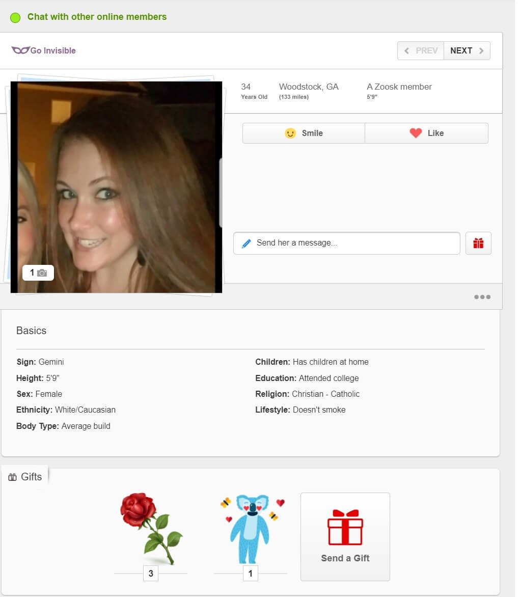 Zoosk - Chat with members online