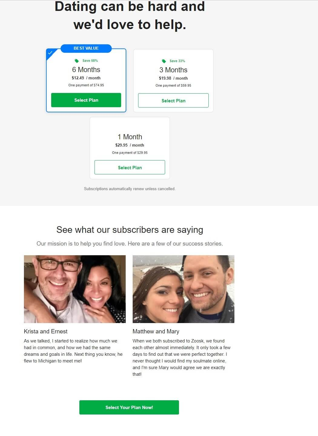 Zoosk review of discount membership plans